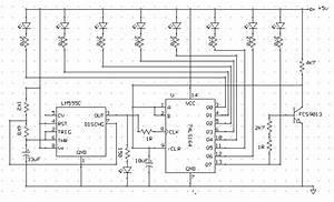 Rangkaian Running Led Dengan Shift Register  Ic 74ls164