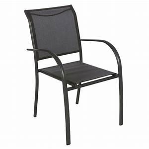 Chaise Et Fauteuil De Jardin : fauteuil de jardin empilable piazza anthracite graphite chaise et fauteuil de jardin eminza ~ Teatrodelosmanantiales.com Idées de Décoration
