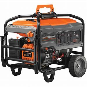 Generac Portable Generator  U2014 8125 Surge Watts  6500 Rated