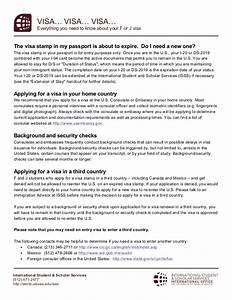 FAQ's F1 Visa Renewal with Expired Visa Stamping
