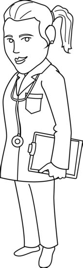 doctor coloring page  clip art