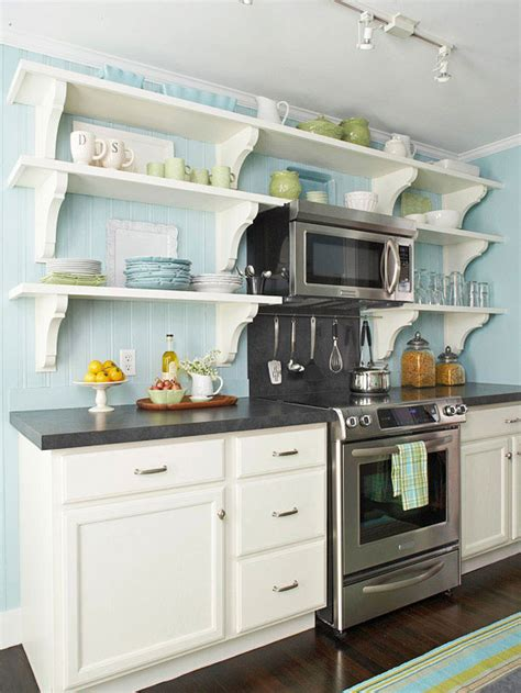 5 reasons to choose open shelves in the kitchen burger