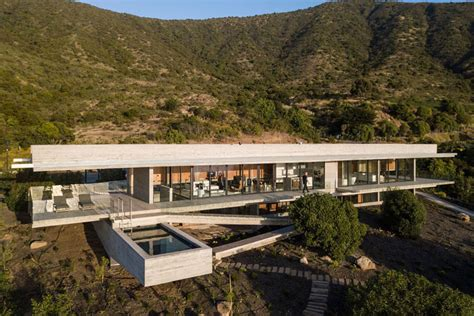 Modern Concrete House With Ocean Views Rises In Chilean