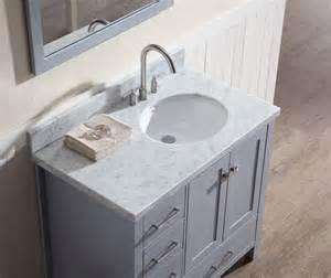 48 Double Vanity by Ariel Cambridge 37 Quot Single Sink Vanity Set W Right Offset