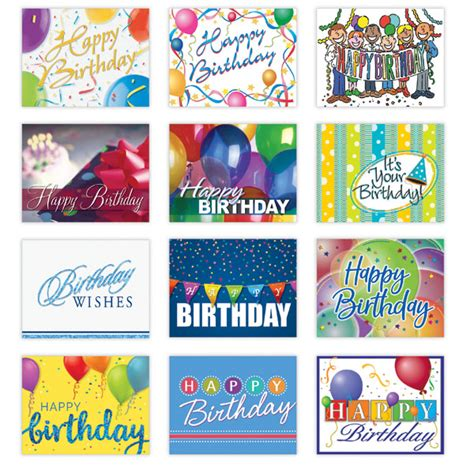 personalized happy birthday card assortment  gneil