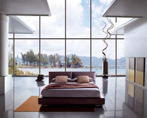 eco friendly large glass windows offering effective energy savings  contemporary residence