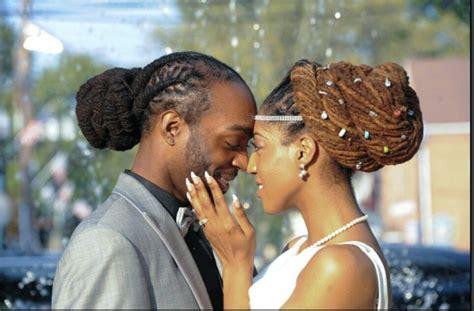 happy couple   wedding day dreadlocks locs
