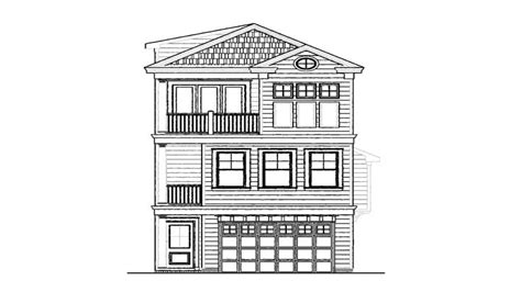 narrow lot house plans  story narrow lot house plans