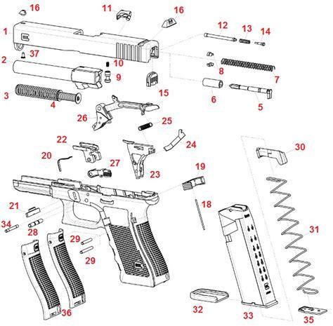 Glock 19 Part Diagram by Glock Gun Parts