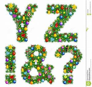 Christmas alphabet royalty free stock photos image 3609528 for Christmas tree letters