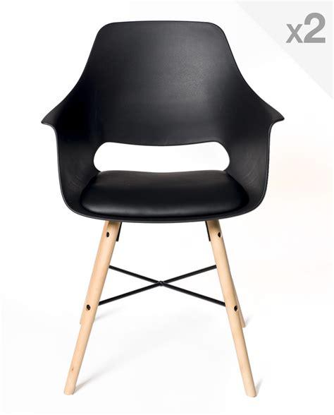chaise cuisine design lot de 2 chaises design scandinave avec coussin tao