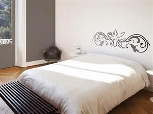 idees deco chambre tete de lit pochoir deco scandinave With idee deco cuisine avec lit pliant