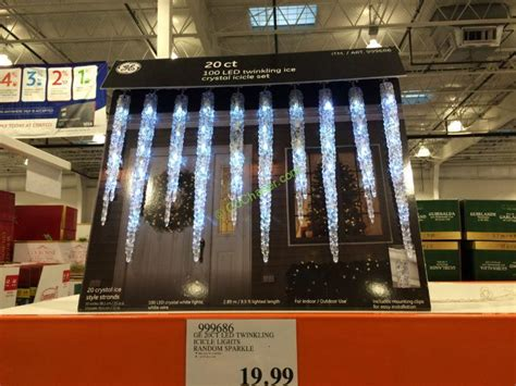 ge led twinkling icicle lights random sparkle 20 count