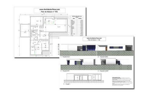 plan de maison gratuit 4 chambres maison contemporaine plain pied type 4d 39 architecte 172