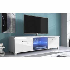 Meuble Tv Carrefour : comfort home innovation meuble de t l vision led meuble de salon blanc mate et blanc laqu ~ Teatrodelosmanantiales.com Idées de Décoration