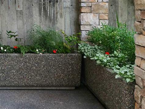 cement planters for rectangular concrete planters cement ornamental