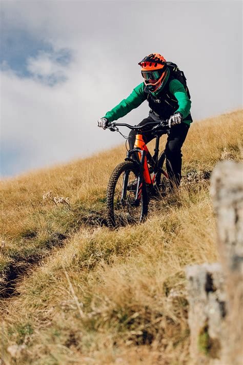 Mountain bike downhill rider in action by Blue Collectors ...
