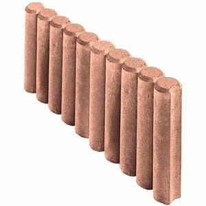 Gehwegplatte 50 X 50 : kann rundpalisaden randstein braun 50 cm x 25 cm x 6 cm kaufen bei obi ~ Frokenaadalensverden.com Haus und Dekorationen