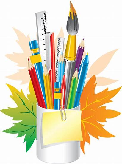 Stationery Clipart Stationary Transparent Crafts Crayon Office