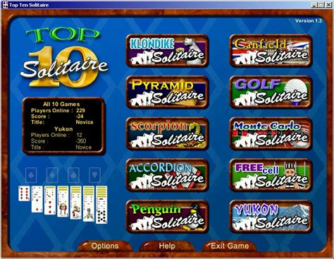 Image 1 of 3 (image credit: Play solitaire card game - Top Ten Solitaire