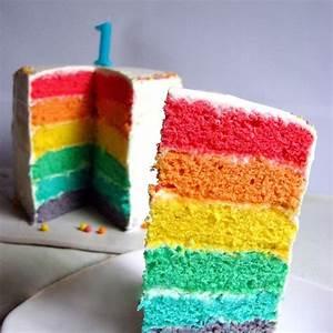1 An Anniversaire : recette de g teau d 39 anniversaire pour b b de 1 an rainbow cake ~ Farleysfitness.com Idées de Décoration