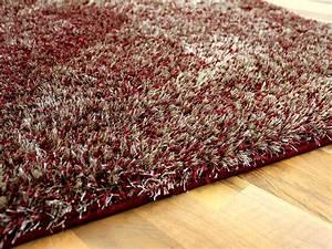 Shaggy Hochflor Teppich : hochflor shaggy teppich luxus feeling mix rot gold teppiche hochflor langflor teppiche rot und ~ Markanthonyermac.com Haus und Dekorationen