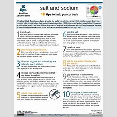 Kidney Disease 10 Tips To Help You Cut Back On Salt And Sodium