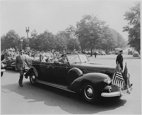 Open Car by File President Harry S Truman Sitting In An Open Car With