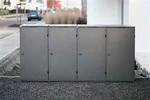 Mülltonnenbox Mit Paketbox : modell oslo premium m lltonnenboxen aus edelstahl ~ Sanjose-hotels-ca.com Haus und Dekorationen