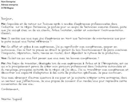 exemple lettre de motivation email