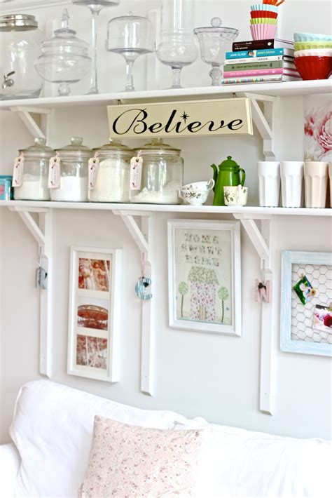 shabby chic shelves for kitchen shabby chic kitchen shelving idea for ideal space saver homesfeed