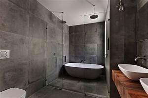 salle de bain grise 65 idees du gris taupe a l39ardoise With salle de bain moderne grise