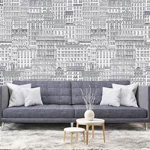 Papier Peint Photo : papier peint panoramique 143178 broadway noir et blanc ~ Melissatoandfro.com Idées de Décoration