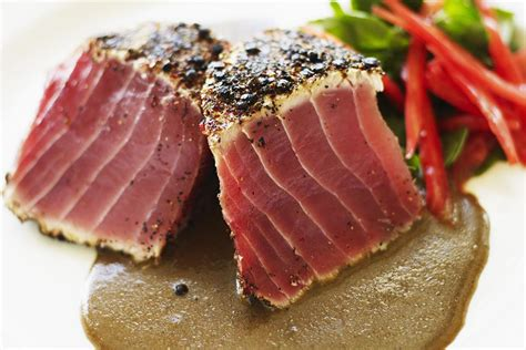tuna steak grilled tuna steaks with asian sesame crust recipe