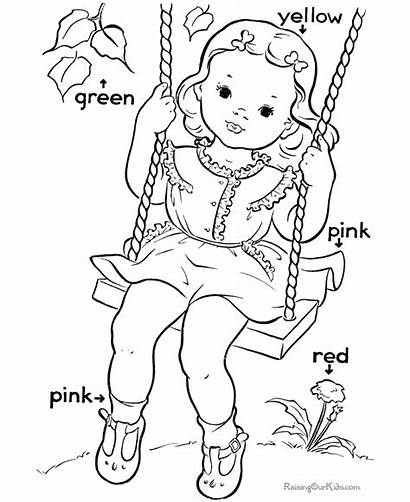 Learning Primary Coloring Pages Colors Sight Worksheets