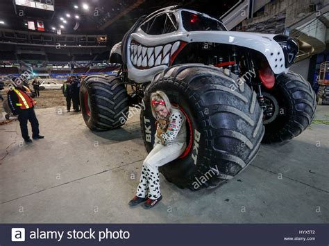 monster truck jam vancouver vancouver canada 7th apr 2017 the first female