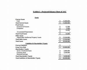 projected balance sheet template excel balance sheet templates 18 free word excel pdf