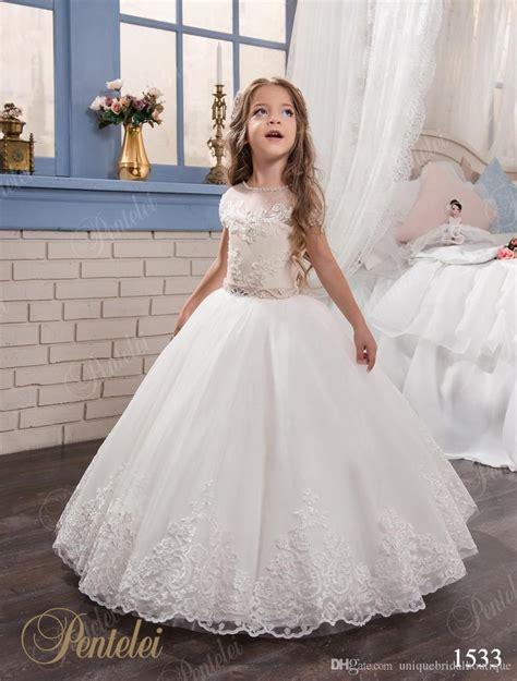 kids wedding dresses  cap sleeves  beaded sash