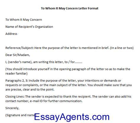 concern letter sample misc letter