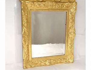 Miroir Cadre Bois : miroir r gence glace cadre bois sculpt dor dauphins coquille fleur xviii ~ Teatrodelosmanantiales.com Idées de Décoration