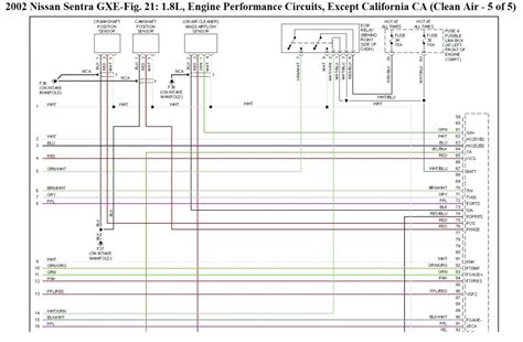 2002 nissan sentra wiring schematic 35 wiring diagram
