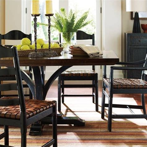 stanley furniture dining table stanley furniture artisan pedestal dining table in ebony