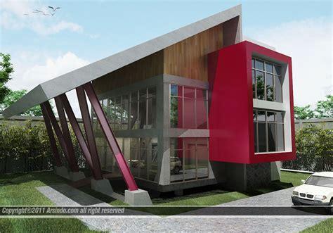 fasad rumah minimalis modern arsindocom