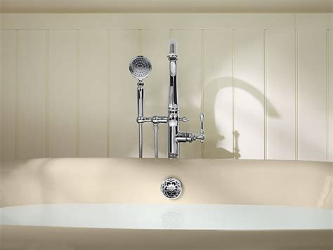 k t97332 4 kelston bath filler trim with handshower kohler
