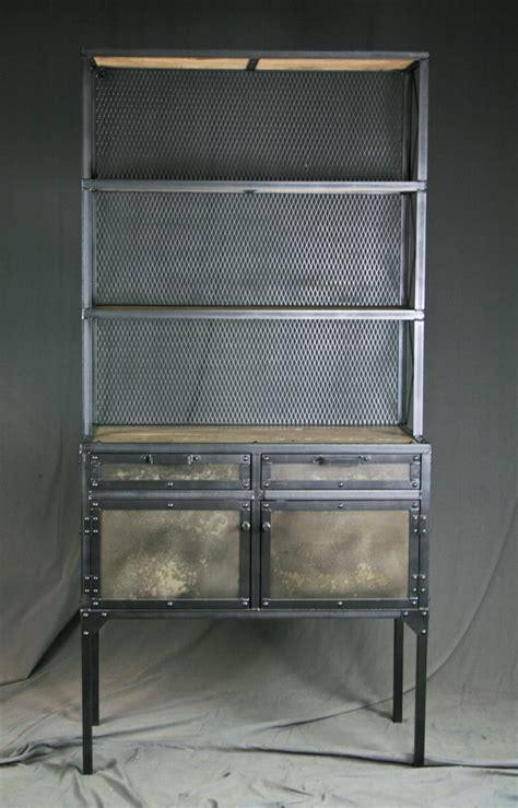 industrial pantry shelving reclaimed wood steel