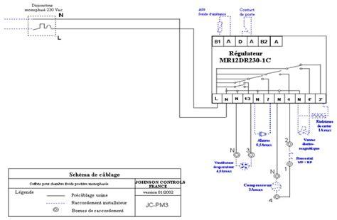 chambre froide installation coffret electrique schema electrique