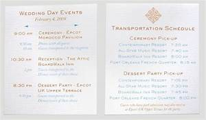 invitations programs newsletter disney travel babble With wedding invitations transportation wording