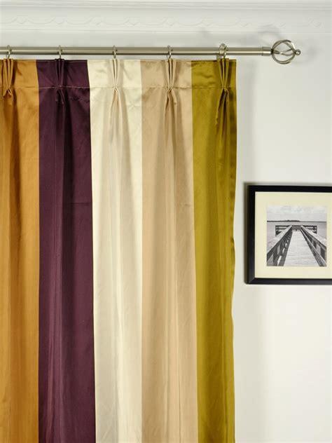Silk Pinch Pleat Drapes - silver bold stripe pinch pleat faux silk curtains