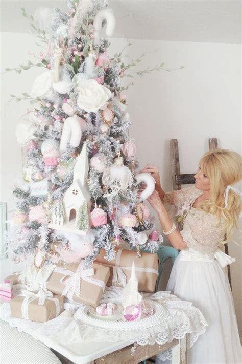 decorating tiny chic tree white decor stunning ruffled lace tree skirt shabby chic decor cottage