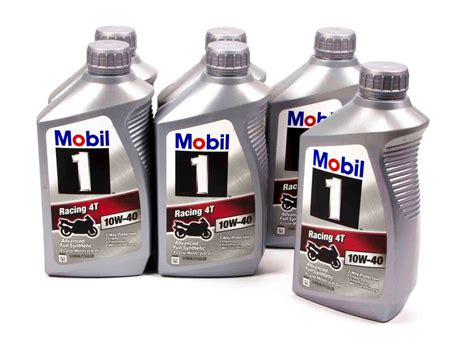 Mobil-1 Racing 4t 10w-40 Oil Case (6)qt Synthetic